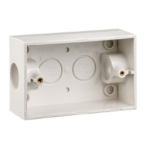 MOUNTING BOX PVC RECT 2X25MM ENTRIES WHT