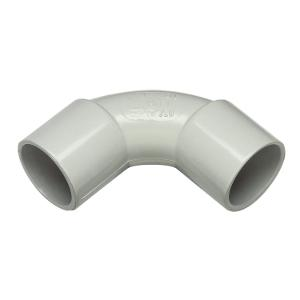 ELBOW CONDUIT PVC SOLID 20MM GREY