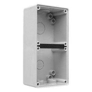 MOUNTING BOX 2 GANG GREY