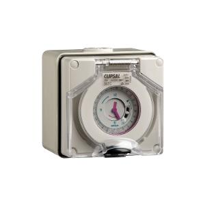 TIMER SWITCH IP66 24HR 16A 250V GREY