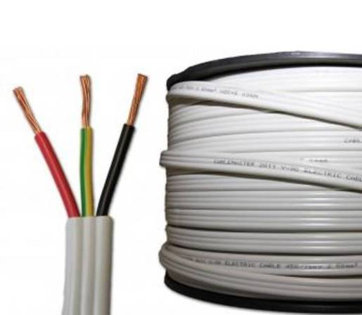 Cable Flat 1 5mm Twin Amp Earth