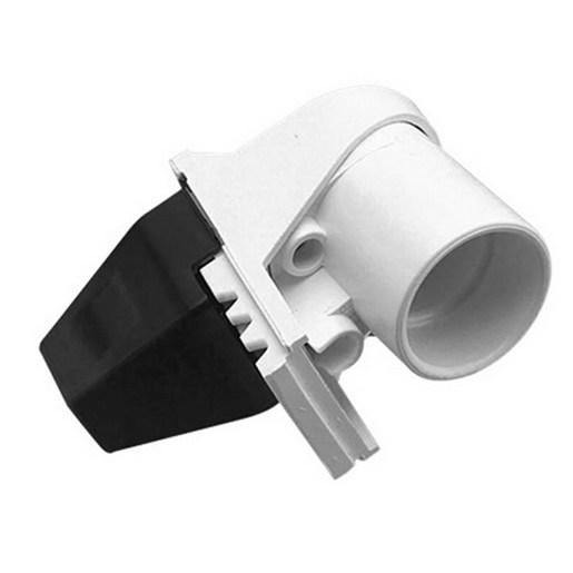 LAMPHOLDEr 2PN BC FLUSH RIGHT ANGLE WHT