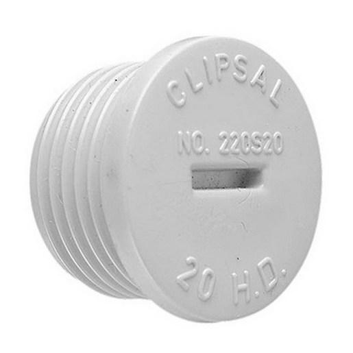 Plug Conduit Pvc Screwed 32mm Grey Conduit Fittings