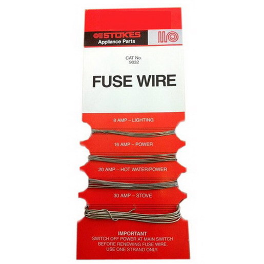 Fuse Wire Card Includes 8  16  20  32 Amp