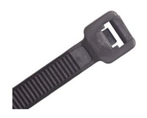 CABLE TIE 365 X 7.8 X 2.1MM BLACK 100PK