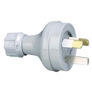 PLUG TOP 3PIN 10A 250V TRANSPARENT