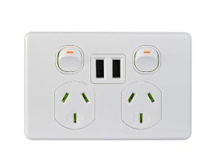 DUAL USB CHARGER P/POINT 5V 1.7AA/3.4A