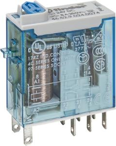 RELAY W/PB+LED FLAT 8PIN 2C/O 8A 24VDC
