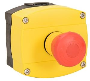 EMERGENCY STOP 40MM TWST RST PLASTIC YLW