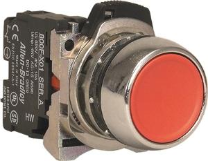 PUSHBUTTON METAL RED 1N/C COMPLETE
