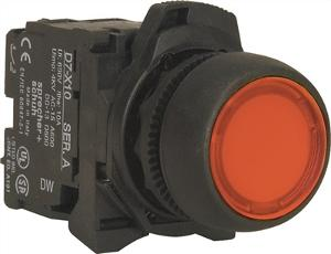 PUSHBUTTON 22.5MM PLASTIC FLUSH ILLUM RE