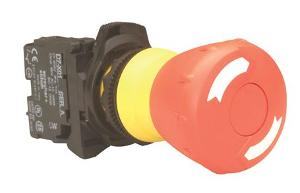 PUSHBUTTON 22.5MM PLASTIC E-STOP 30MM 1N