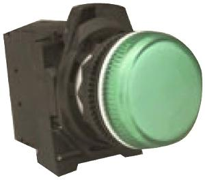 PILOT LIGHT 22.5MM PLASTIC LED 24VACDC G