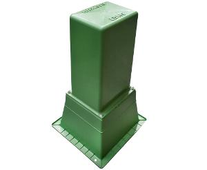 PILLAR BOX TALL & BASE VENT GREEN
