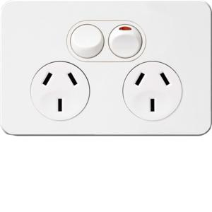 10A TWIN SOCKET HORZ SHUTTER
