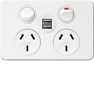SIL TWIN SOCKET OUTLET USB