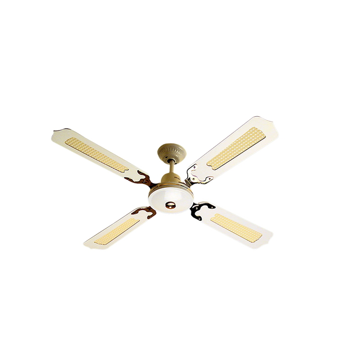 Ceiling Fan 4 Blade Rattan White P Wired Cnw