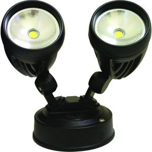 2X8W IP44 BLACK TWIN FLOODLIGHT