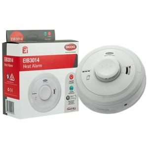 HEAT ALARM 230V WITH 10 YEAR RECHARGEABL