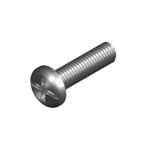 SCREW PAN HEAD 6X25MM ZINC