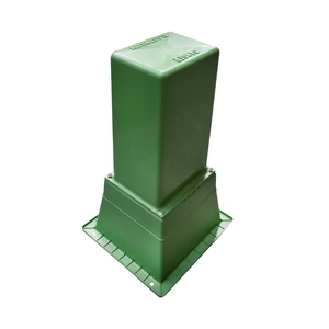 PILLAR BOX TALL & BASE NO VENT GREEN
