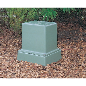 PILLAR BOX SHORT & BASE NO VENT GREEN