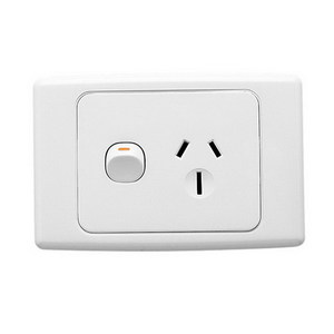 GPO SOCKET SWT SING 15A 250V WHITE