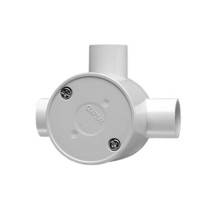 JUNCTION BOX ROUND DEEP 3WAY 20MM GRY