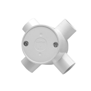 JUNCTION BOX ROUND DEEP 4WAY 25MM GRY