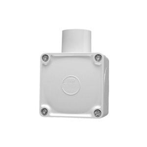 JUNCTION BOX SQUARE 1WAY 32MM GREY
