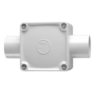 JUNCTION BOX SQUARE 2WAY 32MM GREY
