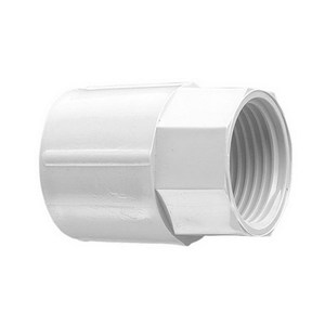 COUPLING PVC PLAIN/SCREW 25MM GREY
