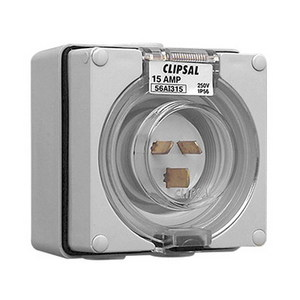 INLET APPLIANCE IP66 3 PIN 15A 250V GREY
