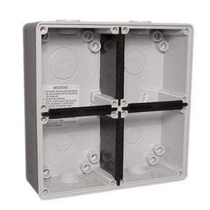 MOUNTING BOX 4 GANG GREY