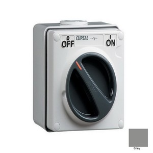 ISOLATOR IP66 1G 3P 20A 1WAY 500V GREY