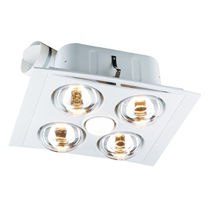 BATHROOM COMBO FAN LIGHT 4 HEAT DUCTED