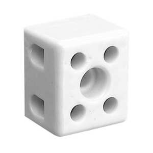 CONNECTOR BLOCK PORCELAIN DBL ENTRY 15A