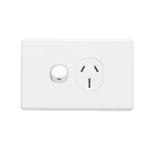 GPO SOCKET SWT SING 15A CLASSIC WHITE