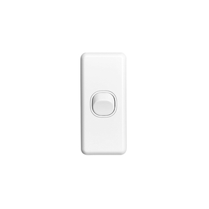 SWITCH 1GANG ARCHITRAVE 10A WHITE
