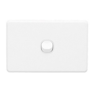 SWITCH 1GANG HORIZONTAL 10A WHITE
