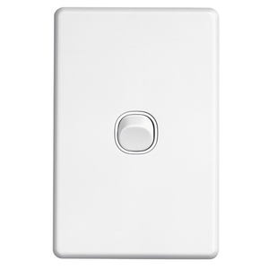 SWITCH 1G VERTICAL 10A WHITE