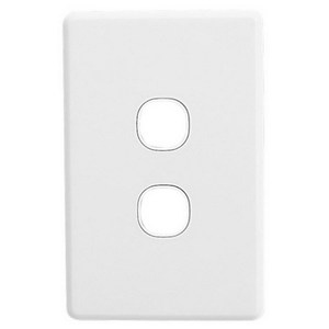 PLATE GRID & COVER 2G WHITE
