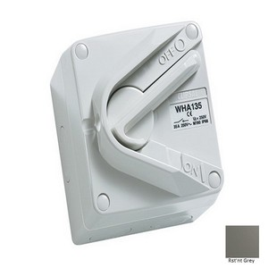 ISOLATOR IP66 1P 35A 250V WHA SERIES R/G