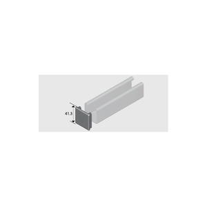 COVER CHANNEL END CAP 41.3MM2