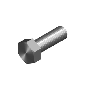 BOLT HEX HEAD M10X30MM HDG