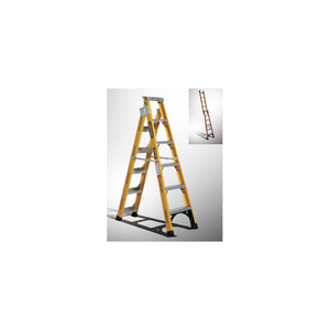 LADDER DUAL PURPOSE 1.8-3.2M FIBREGLASS