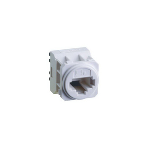 EXCEL E-MEC CAT-6 RJ45 DATA-SOCKET WHITE