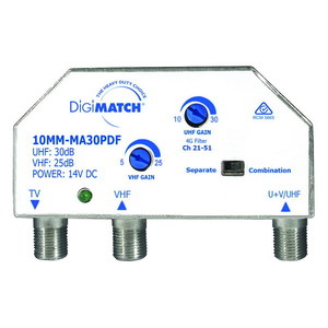 AMPLIFIER MASTHEAD DMATCH UHF/VHF 30DB