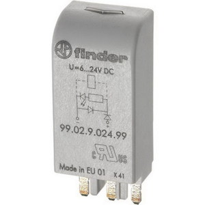 RELAY LED&DIODE PLUG IN MODULE 6-24VDC