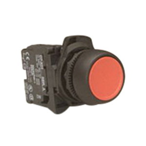 PUSHBUTTON FLUSH PLASTIC RED COMP 1N/C